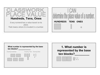 NBT1.1 Handout Size Classwork