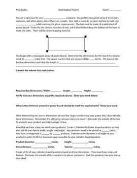 Quadratic Optimization, Volume, and Boxes Project