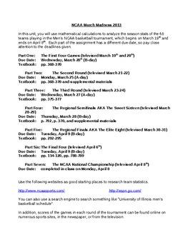 NCAA March Madness Statistics Unit 2013