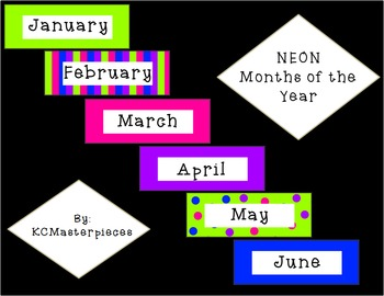 NEON Months of the Year