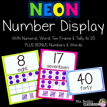 NEON Decor - Number Posters