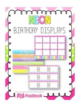 NEON Themed Birthday Displays