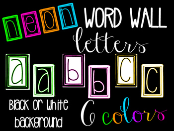 NEON Word Wall Letter Headings