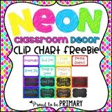 NEON Chalkboard Clip Chart