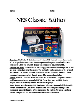 NES Classic Video Game Lesson review facts questions Ninte