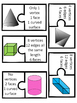 NEW 2D and 3D Shapes Matching Vocabulary Games 4 Versions!