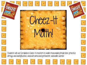 NEW AND IMPROVED: Scrabble Cheez-It Math-Arrays, Area, Per
