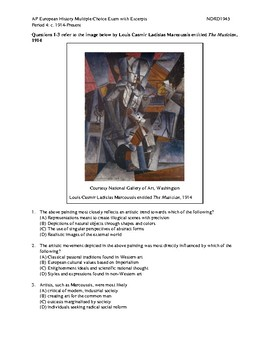 NEW AP European History Period 4 MC Exam with Excerpts and
