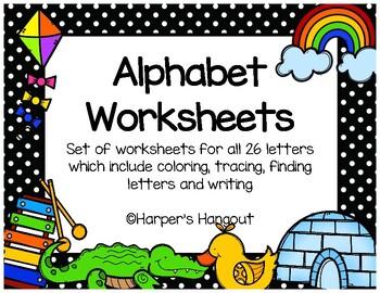 *NEW* Alphabet Worksheet Packet