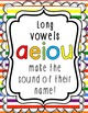 Back to School: (12) Short & Long Vowel Sounds Posters wit