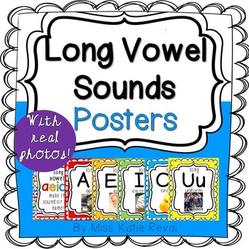 Printable Long Vowel Sounds Posters with Real Photos