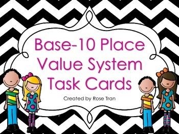 NEW Base-10 Place Value System Task Cards (TEKS and Common