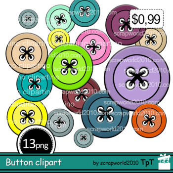 Activities Button clipart multicolor+Outline black and white