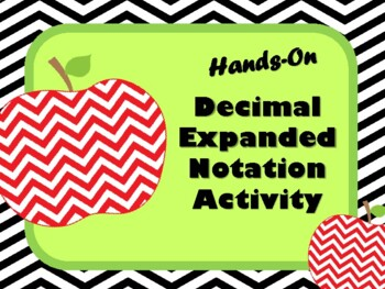NEW  Hands-on Decimal Expanded Notation (aligned to TEKS 5