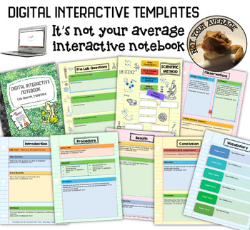 NEW Digital Interactive Lab Report Template STEM FREE THIS MONTH
