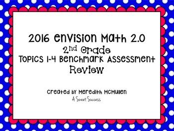 An enVision Math 2.0 2nd Grade Topics 1-4 Benchmark Assess