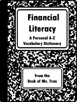NEW  Financial Literacy A-Z Personal Dictionary (Also incl