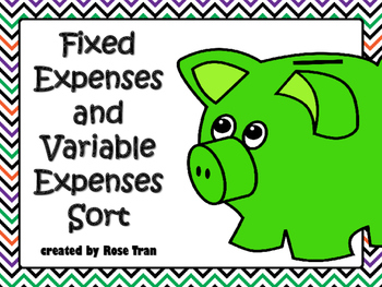 NEW  Fixed and Variable Expenses Sort PERSONAL FINANCIAL L
