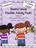 NEW NO PREP! Fraction Activity Pack Second Grade 2.3A 2.3B