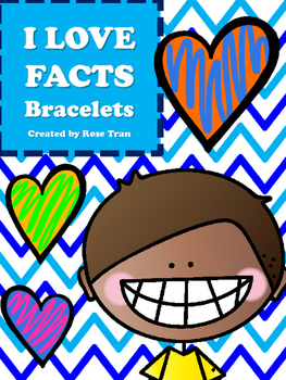 NEW I LOVE FACTS Bracelets (Aligned to TEKS 3.4F & CC 3.OA.C.7)