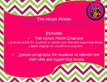 NEW! Identify Main Idea and Supporting Details The House M