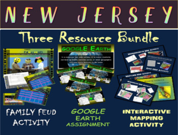 NEW JERSEY 3-Resource Bundle (Map Activty, GOOGLE Earth, F