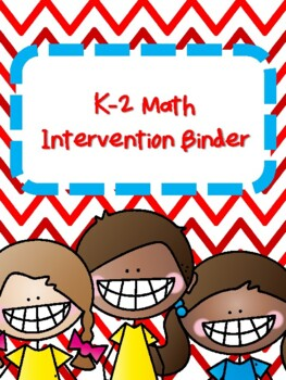NEW  K-1 Math Intervention Binder (130+ pages) GREAT FOR S