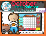 MIMIO Calendar Math- October HALLOWEEN VERSION (English)