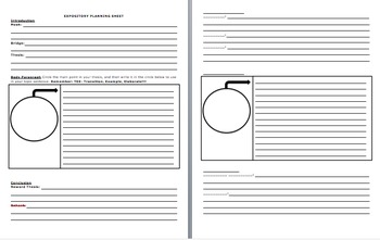 NEW-MODIFIED Expository Planning Sheet & BLANK Organizer f