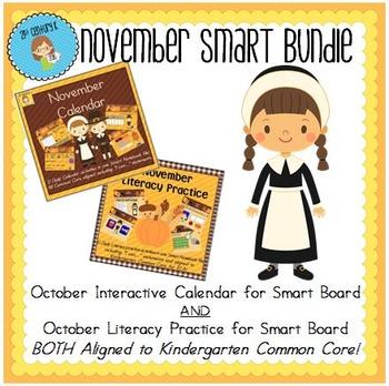 November Smart Bundle for Kindergarten