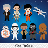 NEW Star Wars Digital Clip Art, BB8, Rey, Finn, Kylo Ren,0227