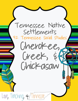 NEW Tennessee Social St. - Cherokee, Creek, Chickasaw 4.2