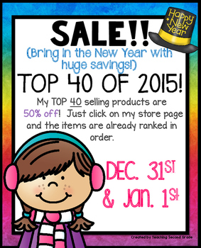 NEW YEAR'S EVE AND NEW YEAR'S DAY SALE