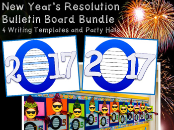 2017 New Year's Resolution Writing Templates Primary Inter