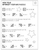 NEW YEAR number chart mystery picture - 5 levels from plac