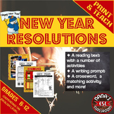 NEW YEAR ♥For ESL/ELL Students♥ Speaking, Reading and Writ
