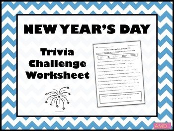 NEW YEAR'S DAY Trivia Challenge Worksheet
