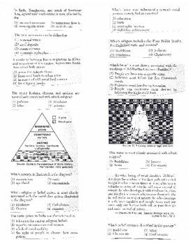 Global History Multiple Choice Quiz Unit 4/40 - REGENTS ALIGNED