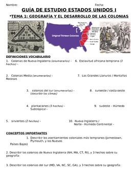 US History 11th grade (1st Sem) Study Guide Units 1-20 - S