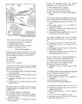 US History Multiple Choice Quiz Unit 2/37 - REGENTS ALIGNED