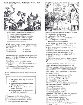 US History Multiple Choice Quiz Unit 21/37 - REGENTS ALIGNED