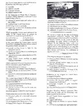 US History Multiple Choice Quiz Unit 22/37 - REGENTS ALIGNED