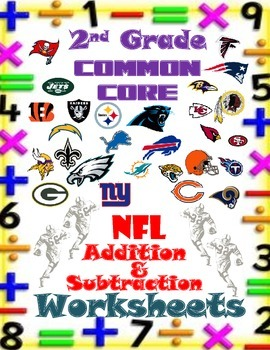 Common Core Math-Second Grade-NFL Addition & Subtraction
