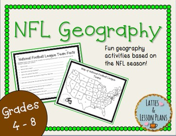 NFL Geography! Fun Geography Activities To Use During Foot