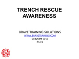 NFPA TRENCH RESCUE TECHNICAL AWARENESS