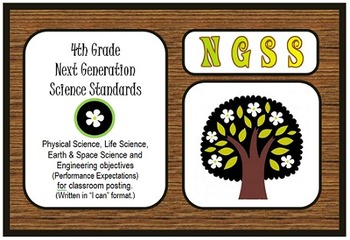 """NGSS 4th Grade Standards- """"I can"""" posters, practices, and"""