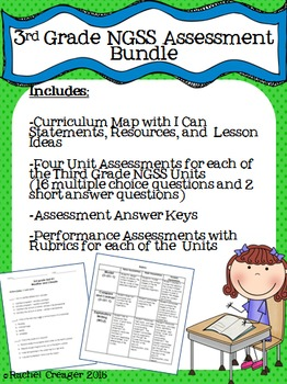 NGSS Assessment Bundle- Third Grade
