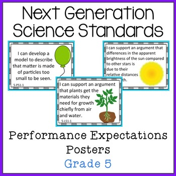 NGSS Grade 5 Performance Expectations Posters