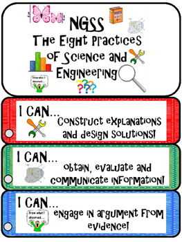 """NGSS """"I Can...."""" BOOKMARKS"""