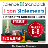 I Can Statements for Middle School Science NGSS Standards